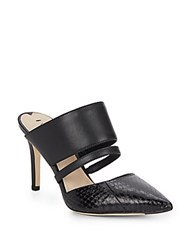 Via Spiga Coralia Leather Mules Black