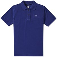 C.P. Company Patch Logo Polo Blue