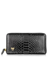 Ghibli Python Continental Wallet Black