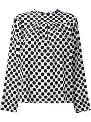Msgm Polka Dot Blouse Black