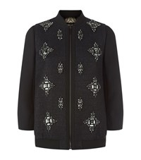 Ted Baker Banwell Embellished Bomber Jacket Female Black