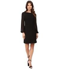 Rsvp Opal Long Sleeve Illusion Dress Black Women's Dress