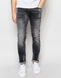 Only And Sons Washed Black Slim Fit Jeans Washed Black