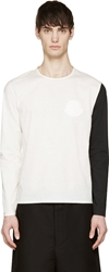 Moncler Gamme Rouge White Asymmetrical Sleeve T Shirt