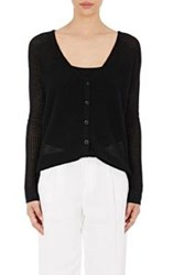 Atm Anthony Thomas Melillo Pointelle Knit Cardigan Colorless