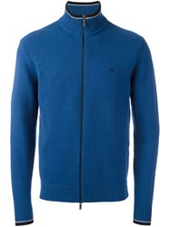 Etro Zip Cardigan Blue