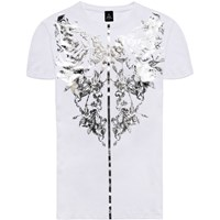 Raddar7 Scorpion Tattoo Metallic Print T Shirt White
