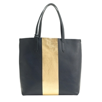 J.Crew Downing Tote In Colorblock Stripe Navy Gold