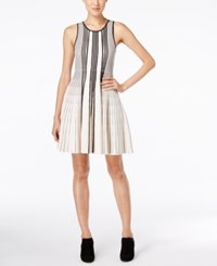 Catherine Malandrino Noreen Striped Fit And Flare Dress Arctic Fox