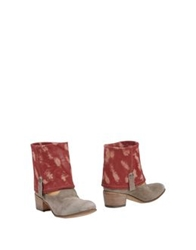Alberto Fasciani Ankle Boots Red