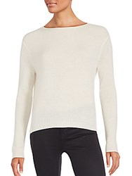 Inhabit Cashmere Back Button Sweater Ivory