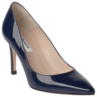 Lk Bennett L.K. Florete Pointed Toe Court Shoes Navy