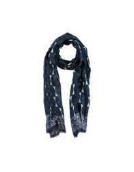 Paolo Pecora Oblong Scarves Dark Blue