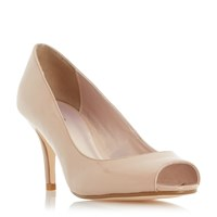 Linea Darnley Peep Toe Mid Heel Court Shoes Nude