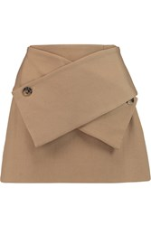 J.W.Anderson Wool And Cotton Blend Twill Mini Skirt Brown