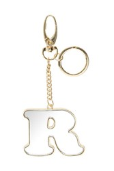 Topshop R' Mirror Initial Keyring Clear