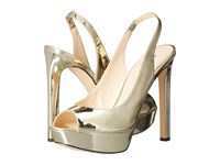 Nine West Valorie 3 Light Gold Synthetic High Heels