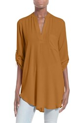 Women's Lush 'Perfect' Roll Tab Sleeve Tunic