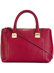 Emporio Armani Double Handles Large Tote Red