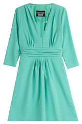 Boutique Moschino Draped Dress Turquoise
