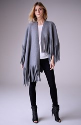 Women's Burberry London Felted Wool And Cashmere Blend Poncho Wrap