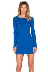 Insight Hi Lo Rib Dress Blue