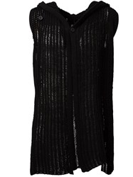 Rick Owens Sleeveless Knit Cardigan Black