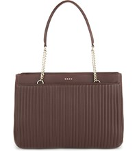 Dkny Gansevoort Quilted Leather Shopper Oxblood