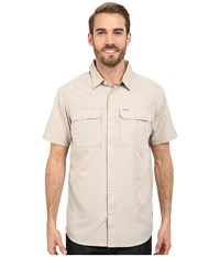 Mountain Hardwear Canyon S S Shirt Saddle Men's Short Sleeve Button Up Brown