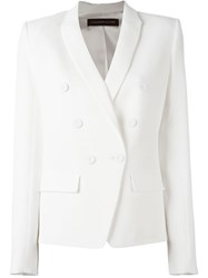 Alexandre Vauthier Double Breasted Blazer White