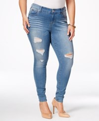 Celebrity Pink Body Sculpt By Trendy Plus Size Skinny Jeans D Day Wash