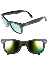 Ray Ban Men's Wayfarer 50Mm Sunglasses Shiny Black Mirror Shiny Black Mirror