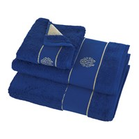 Roberto Cavalli Gold Towel Blue Bath Sheet