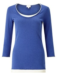 East Double Layer Knit Top Cobalt