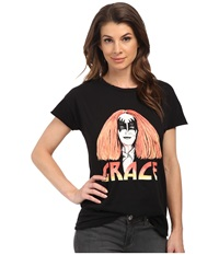 Style Stalker Grace Distressed Tee Washed Black Women's T Shirt