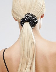 Asos Grid Scrunchie Black