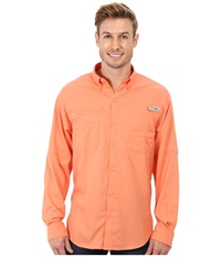 Columbia Tamiami Ii L S Bright Peach Men's Long Sleeve Button Up Pink