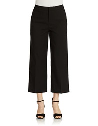424 Fifth High Waist Wide Leg Cropped Pant Black