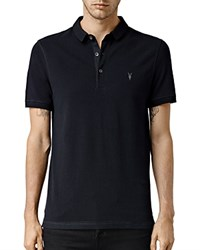 Allsaints Reform Slim Fit Polo Shirt Black