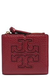 Tory Burch Women's 'Mini Harper' Leather Wallet Burgundy Dark Merlot