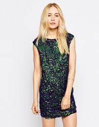 Rock And Religion Sequin T Shirt Dress Purple