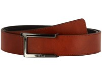 Tumi T Buckle Leather Reversible Belt Gunmetal Reversible Men's Belts Brown