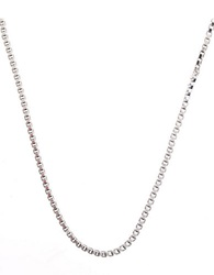 Lord And Taylor Sterling Silver Box Chain Necklace