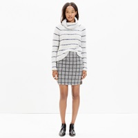 Madewell Shirttail Mini Skirt In Grid Check