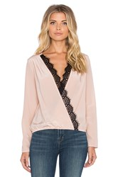 Liv Longsleeve Cross Over Top Blush