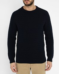 Commune De Paris Navy Vincennes Woollen Sweater Blue