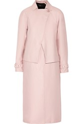 Tibi Cotton Blend Gabardine Trench Coat Pink