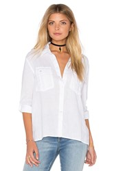 James Perse Pocket Button Up Top White