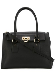 Salvatore Ferragamo Medium 'Lotty' Tote Black