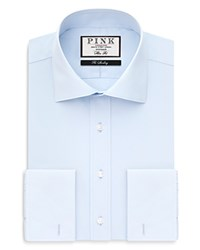 Thomas Pink Frederick Plain Cutaway French Cuff Dress Shirt Bloomingdale's Regular Fit Pale Blue